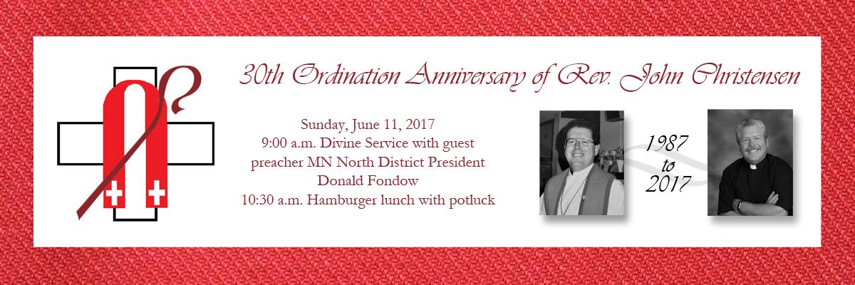 Ordination anniversary invitation web slider trinity lutheran church blog post image ordination anniversary invitation web slider stopboris Images