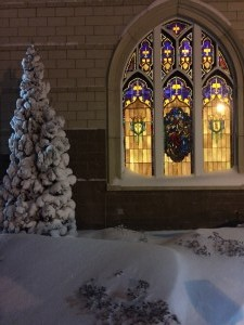 Winter Stained Glass Photo